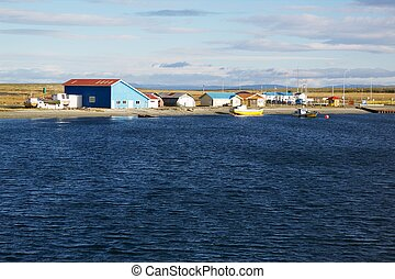 Tierra del Fuego Huts - Huts on the shore of Tierra del ...