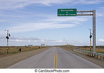 Tierra Del Fuego Sign - Bienvenido a Tierra del Fuego sign ...