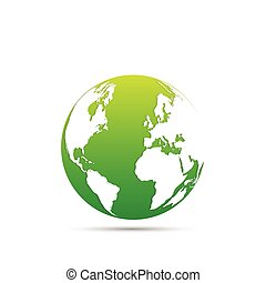 tierra, diseño, verde