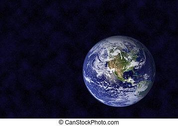 tierra, en, espacio