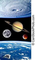 tierra, fantasía, planetas, universo
