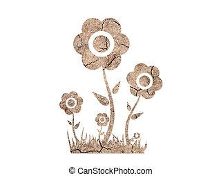 tierra, forma, flores, plano de fondo