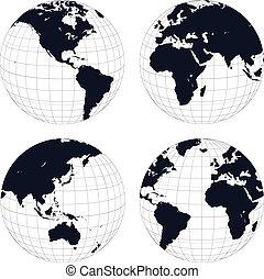 tierra, globos