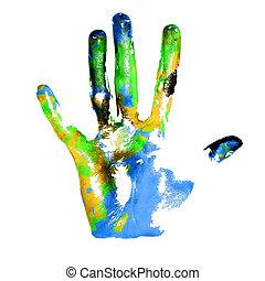 tierra, handprints