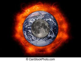 tierra, luna, sol
