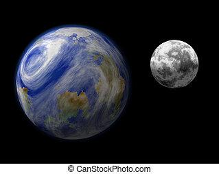 tierra, luna