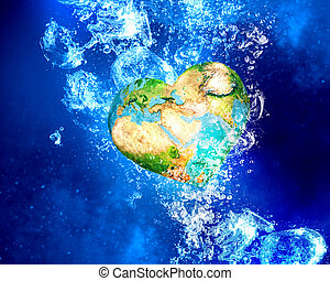 tierra, planeta, agua
