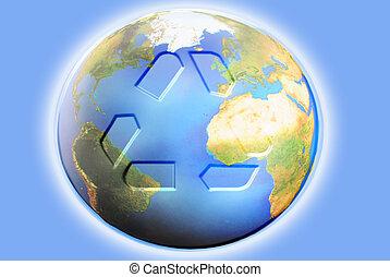 tierra, reciclaje