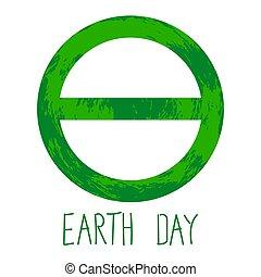 tierra, símbolo, día