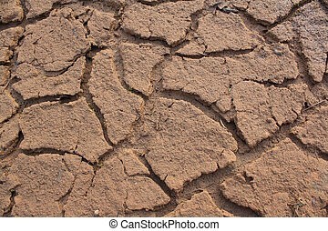tierra, sin, agua, él, mirada, seco