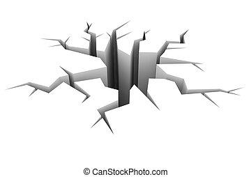 Ilustraci n de archivo de suelo grieta suelo 3d for Suelo 3d blanco