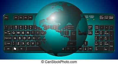 tierra, teclado
