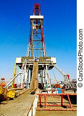 tierra, torre de perforación