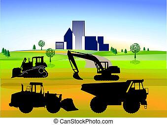 tierra, trabajo, ans, roadworks