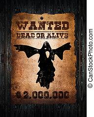 tierra virgen al oeste, querido, ghost-, cartel