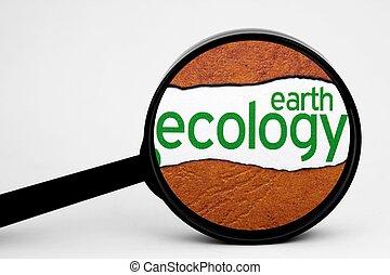 tierra, y, ecología, concepto