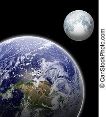 tierra, y, luna