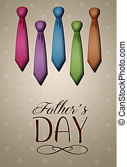 ties for Father's Day - illustration of ties for Father's...