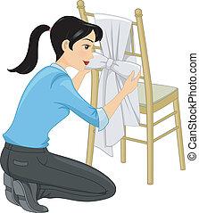 tiffany, krzesło, wstążka
