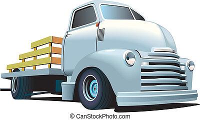 tige, chaud, camion