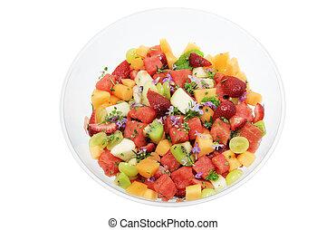 tigela fruta, salada