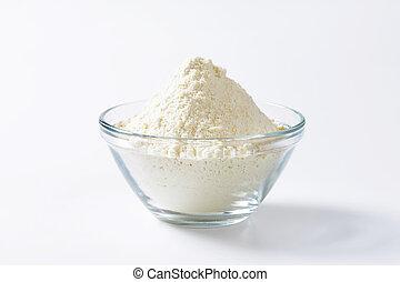tigela, trigo, farinha