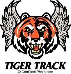 tiger, ślad