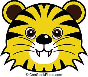 tiger, かわいい, ベクトル
