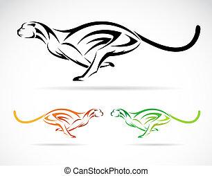 tiger, イメージ, ベクトル, 犬, (cheet