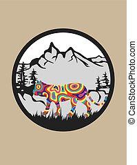 tiger, ロゴ, 自然