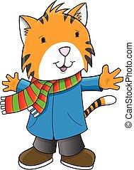 tiger, 休日, 芸術, クリスマス, 冬