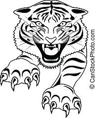 tiger, 入れ墨