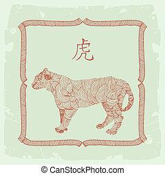 tiger, 印, 中国語, 黄道帯