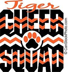 tiger, 喝采, 分隊