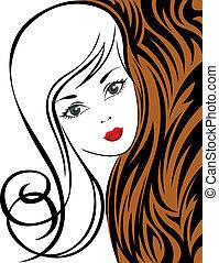 tiger, 女の子, 背景