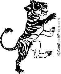 tiger, 定型, イラスト