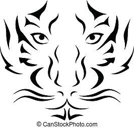tiger, 紋身