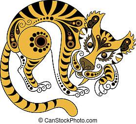 tiger, 装飾用である, スタイル