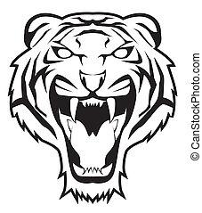 tiger, 顔