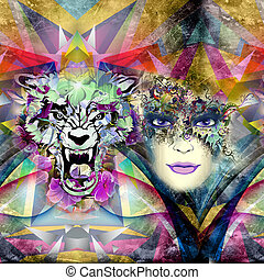 Tiger abstract background