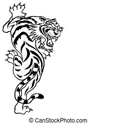 Tiger - Abstract vector illustration of tiger