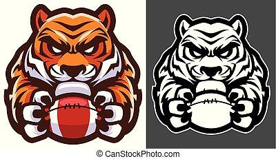 tiger, amerikaan voetbal, mascotte