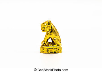 tiger, amuleto, pequeno, simbólico