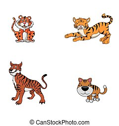 tiger animal illustration design