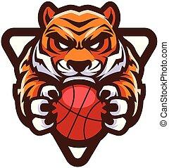 tiger, basquetebol, mascote