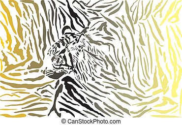 Tiger camouflage background