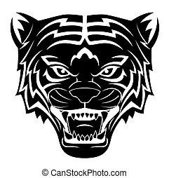tiger, capstrzyk, głowa