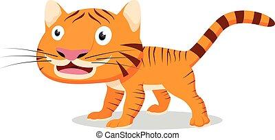 tiger, carino, cartone animato
