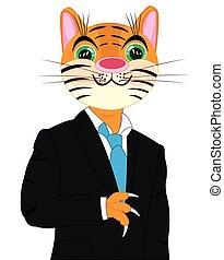 tiger, cartone animato, completo