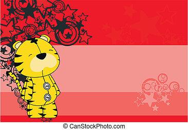 tiger  cartoon background